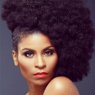side puff natural hair