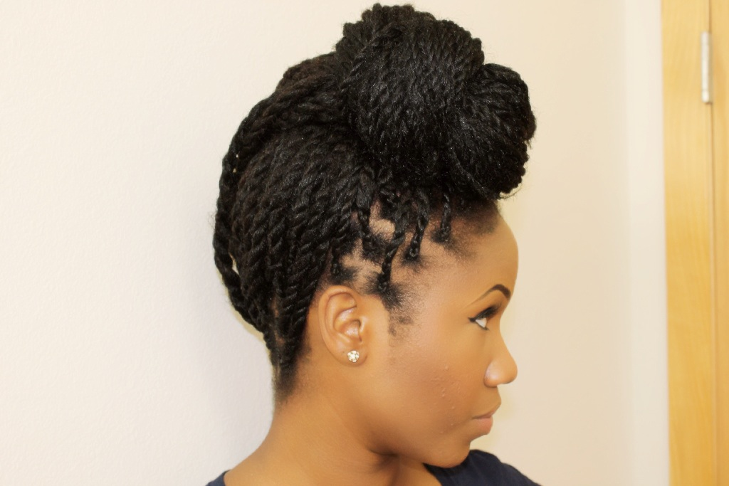 Excellent Natural Hair Flat Twist Updo  Thirstyrootscom Black Hairstyles