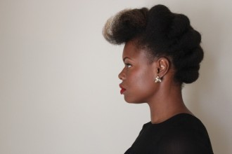 tuck and roll natural hairstyle