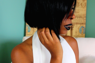 straight natural hair styles