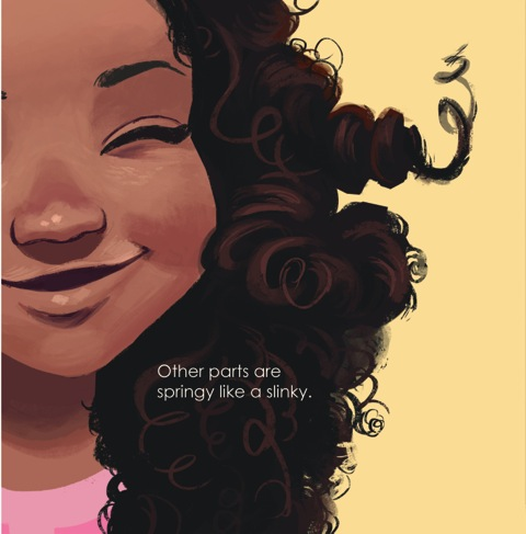 children's book curly hair