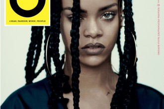 rihanna wears braids on the cover of id