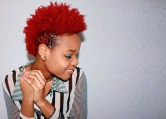 dye curly hair red