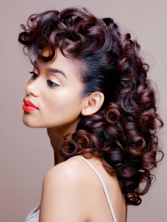 curly set on natural hair