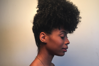 simple updos for shoulder length curly hair
