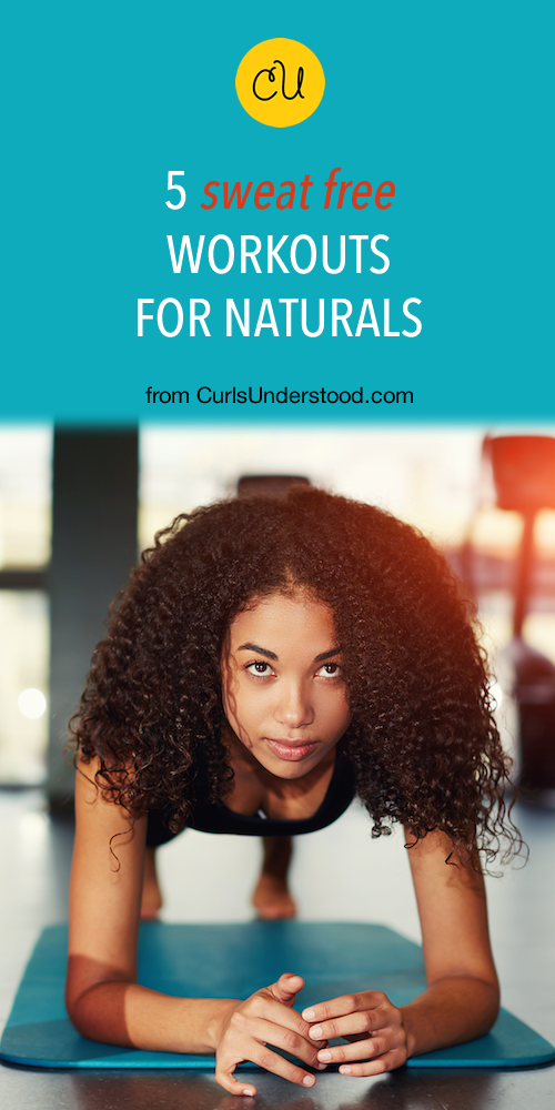 workout with natural hair