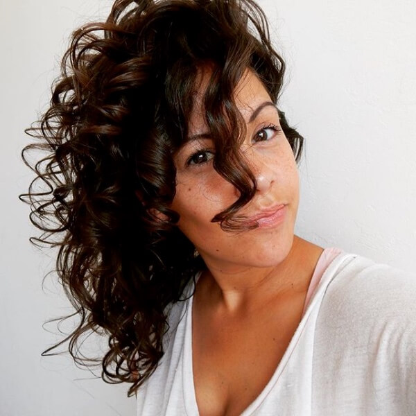 green hair products for curls