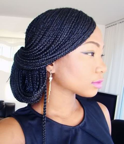 7 Easy Ways To Style Box Braids Amp Senegalese Twists