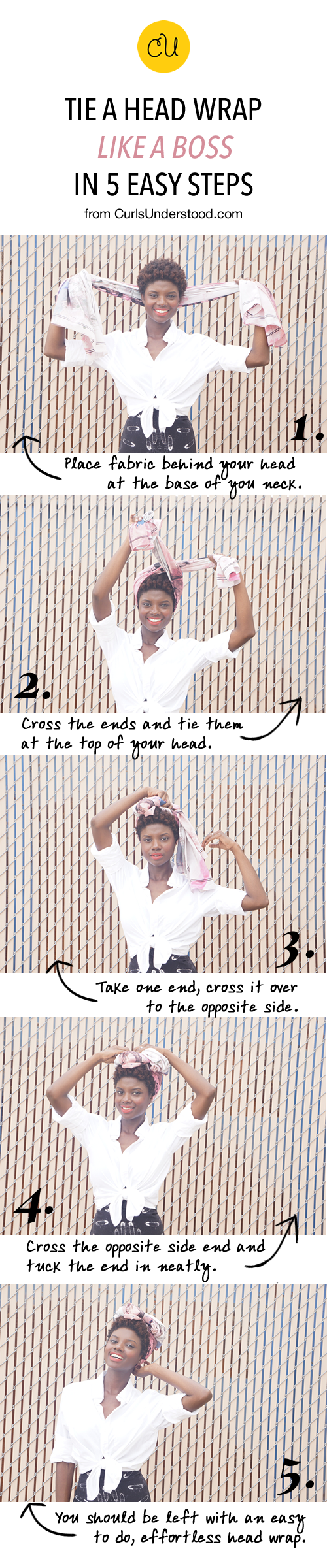 Tie a head wrap like a boss in 5 easy steps curls understood how to tie a headwrap ccuart Image collections